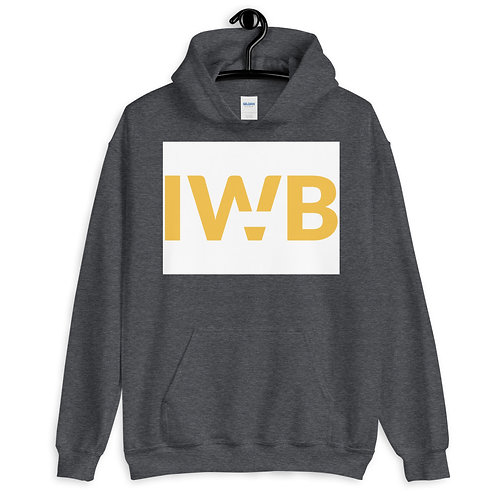 iwannabe White Yellow Bold Pullover Hoodie 4e