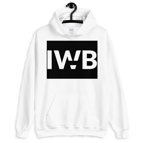 iwannabe Black White Bold Pullover Hoodie 4e