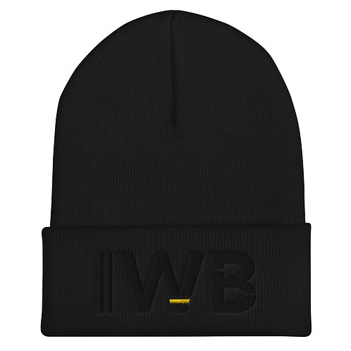 iwannabe Black Yellow Bold Cuffed Beanie 4j