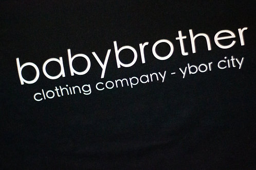 babybrother logo tee - white on black - unisex