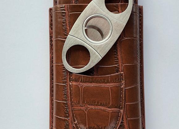 Roma Leather Case - Pocket Cigar Holder