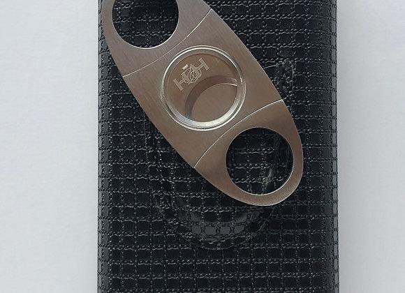 Black & Yellow Leather case - pocket cigar holder