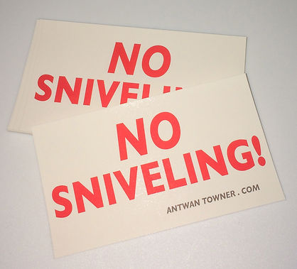 no sniveling stickers promo item