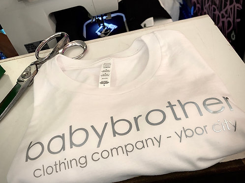 babybrother clothing co. logo tee - white
