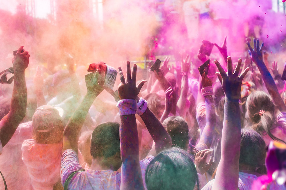 Люди в Color Run