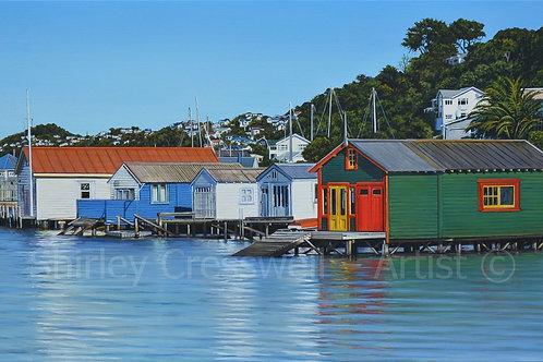 Evans Bay Boatsheds