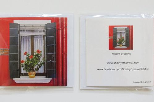 Window Dressing Card