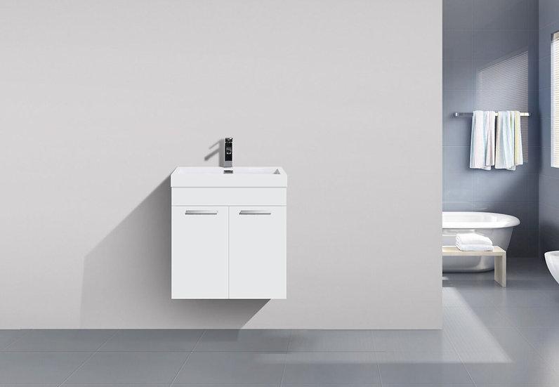 "20"" SOFIA - Lily White - Single Sink Wall-Hung Bathroom Vanity"