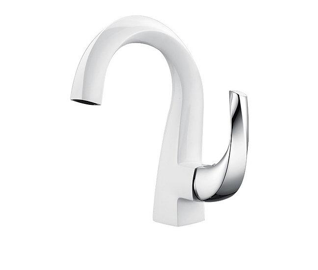 Acqua + Bango, Solid Brass single handle mixer, White