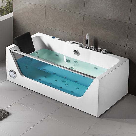 68 In Air Bubble Whirlpool Tub with Computer Control and Light