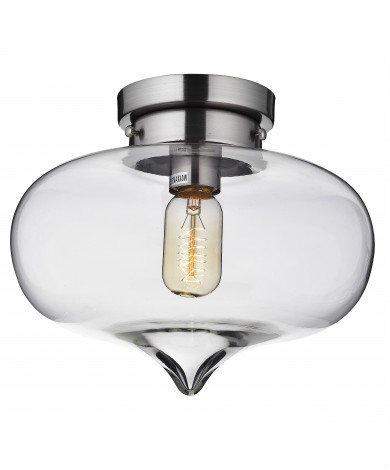 Flush Mount Glass light, blub not included