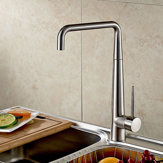 Kitchen Faucet with Stationary Spout