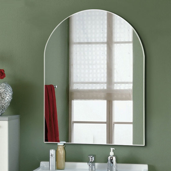 24 x 32 In Vertical Unframed Rectangle Bathroom Silvered Mirror