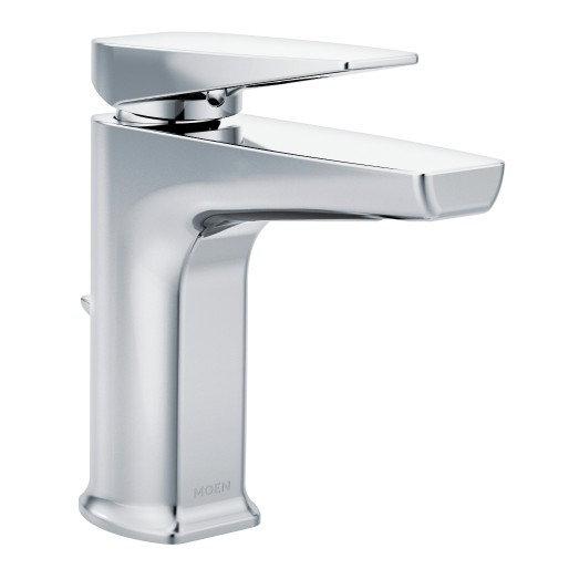 Via By Moen One-Handle Low Arc Bathroom Faucet