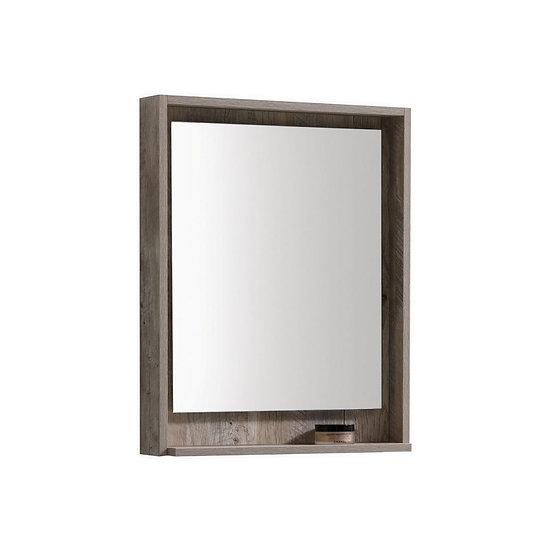 "24"" Wide Mirror w/ Shelf - Nature Wood"