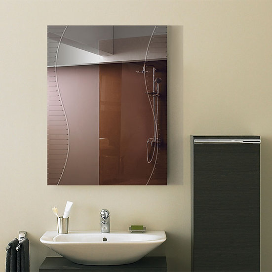24 x 18 In. Wall-mounted Rectangle Bathroom Silvered Mirror