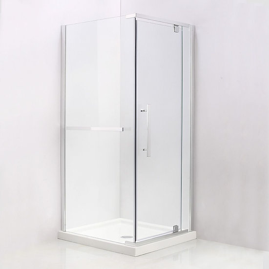 """36"""" x 32"""" Corner Shower Door With 32"""" Opening On The Side"""