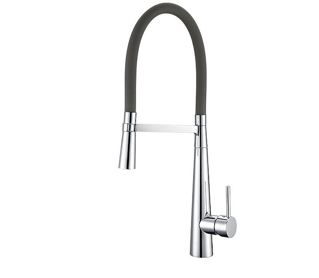 Acqua + Bango, Solid Brass single handle Kitchen Faucet, Gray and Chro