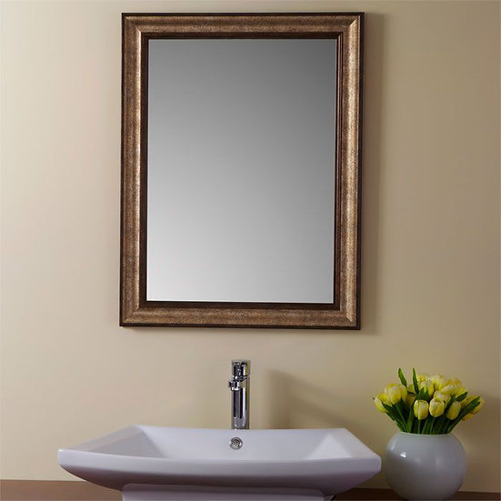 24 x 32 In Reversible Imitation Wood Frame Mirror