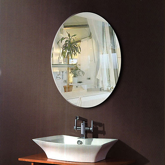 24 x 32 In Wall-mounted Oval Bathroom Silvered Mirror