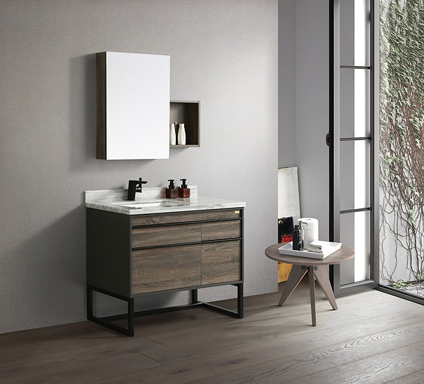 40 In. Vanity Set with Mirror and Basin, LBVV8673885481