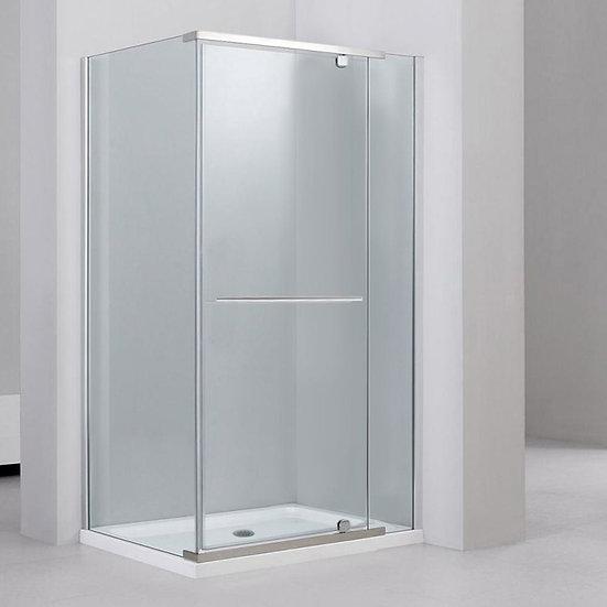 """Rectangular 48"""" Shower Door With 36"""" Side Panel"""
