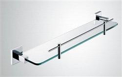 Aqua PIAZZA Glass Shelve - Chrome