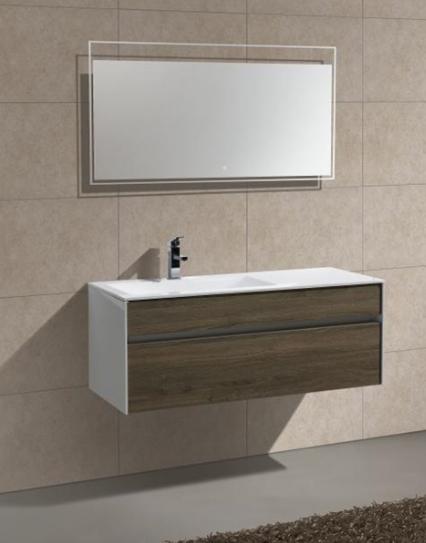 """Fitto 48"""" Single Sink Havana Oak Wall Mount Modern Bathroom Vanity"""