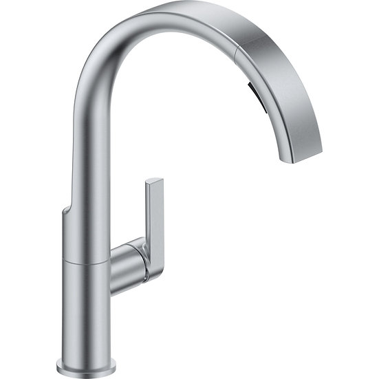 DELTA Single Handle Pull-Down Kitchen Faucet Arctic Stainless