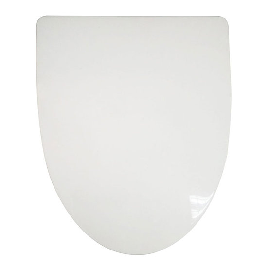 PP White Front Round Soft Close Toilet Seat With Cover