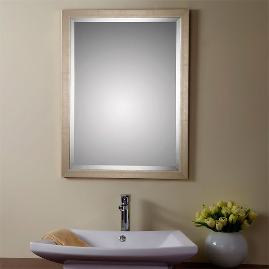 24 x 32 In Reversible Wood-imitation Framed Bathroom Silvered Mirror