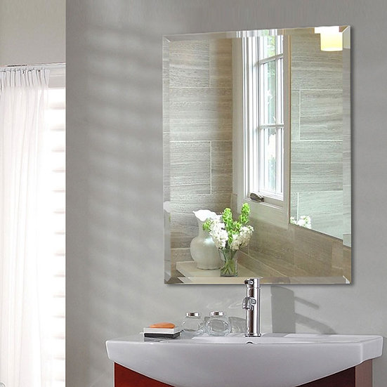 28 x 36 In Wall-mounted Rectangle Bathroom Silvered Mirror