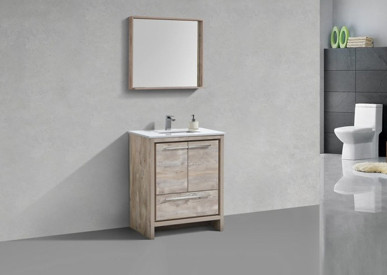 "30"" DOLCE - Nature Wood - Single Sink Freestanding Vanity"