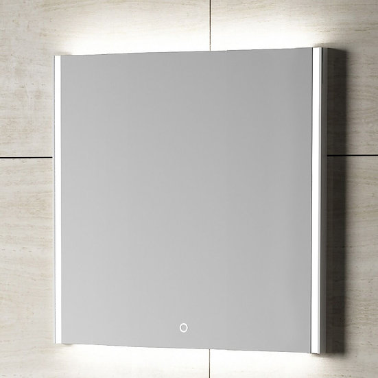"24"" GEO LED Mirror - Solid Surface Frame"