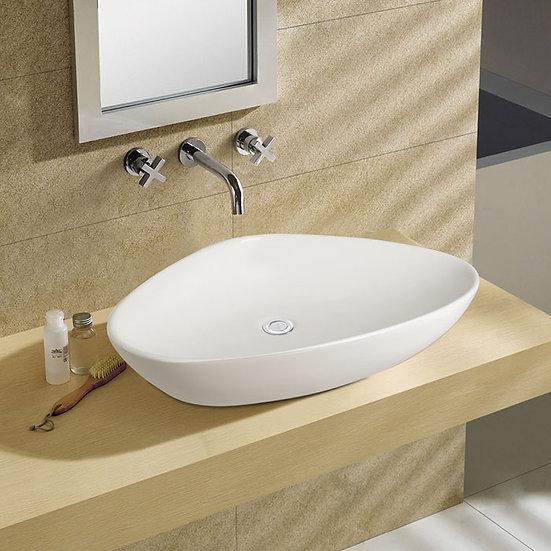 White Ceramic Above Counter Basin