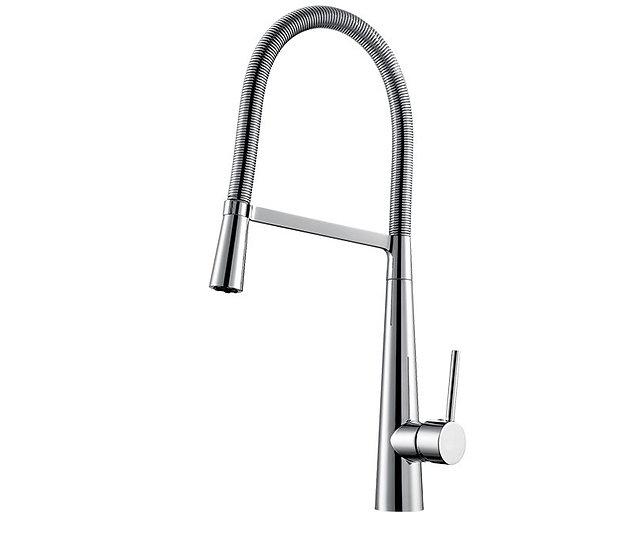 Acqua + Bango, Solid Brass single handle Kitchen Faucet, Chrome