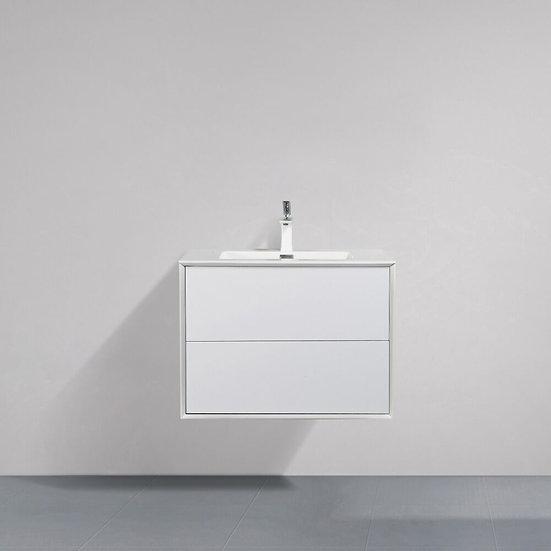 "30"" FLEUR - White - Single Sink Wall-Hung Bathroom Vanity"
