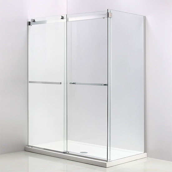 "60"" Sliding Shower Door With 36"" Fixed Side Panel"