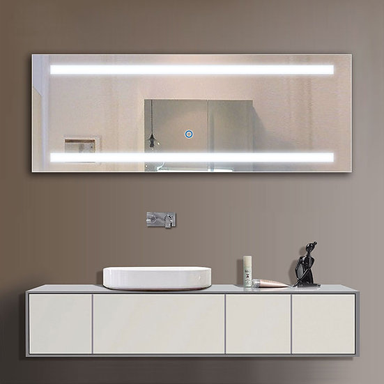 65 x 24 Inch LED Bathroom Mirror with Touch Button.