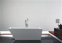 "67"" Aqua Obliquo Free Standing Bathtub"