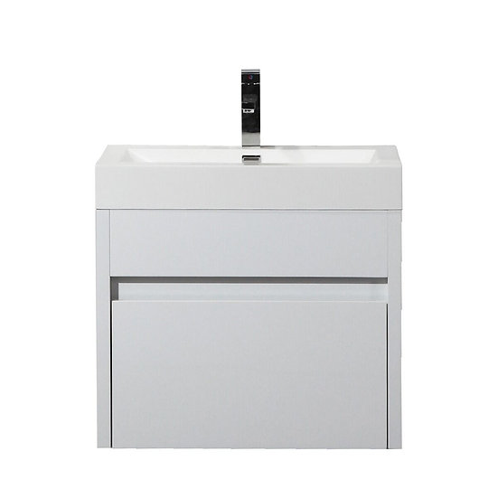 "24"" Labrador - White - Single Sink Wall-Hung Bathroom Vanity"