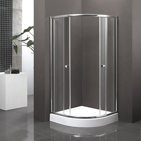"""36"""" x 36"""" Round Frosted Glass Shower Door"""