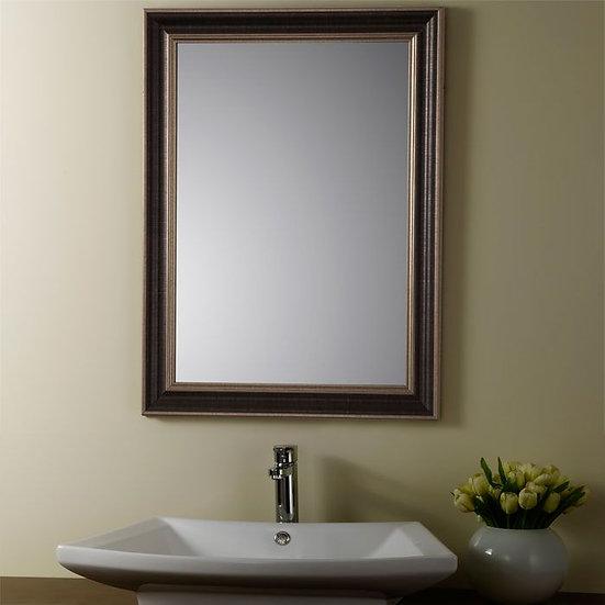 24 x 32 In Reversible Wood-imitation Framed Bathroom Silvered Mirror