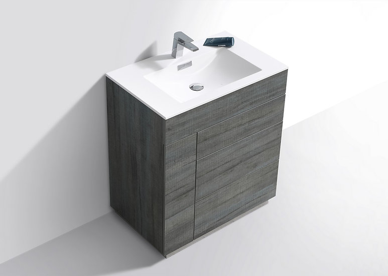 "30"" MILANO Floor Mount Modern Bathroom Vanity"