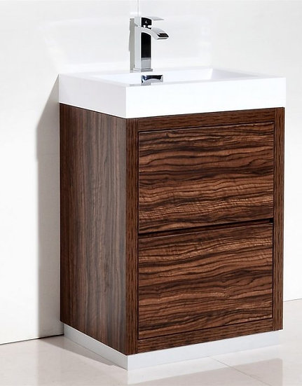 "Bliss 24"" Walnut Free Standing Vanity"
