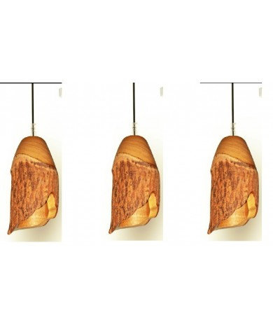Rough Edge Wood LED Triple Pendant
