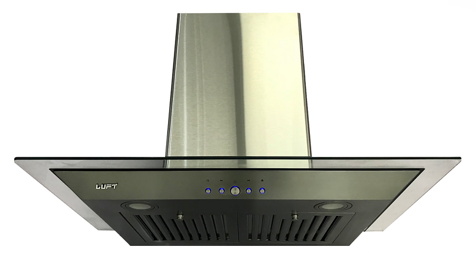 "30"" Black and Glass Hood Fan"