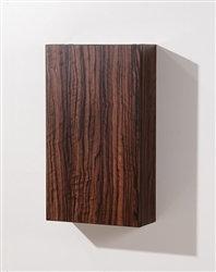 Walnut Bathroom Linen Side Cabinet w/ 2 Storage Areas