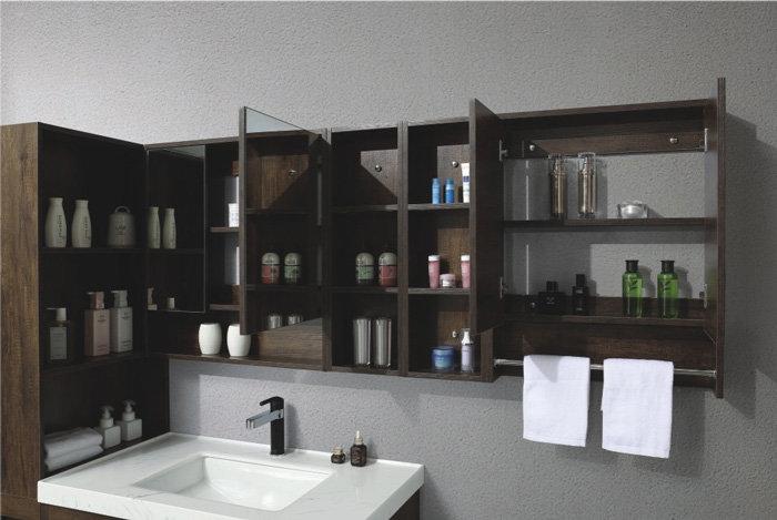 40 In. Freestanding Vanity Set with Mirror, Basin Linen Cabinets, LBVV88526222