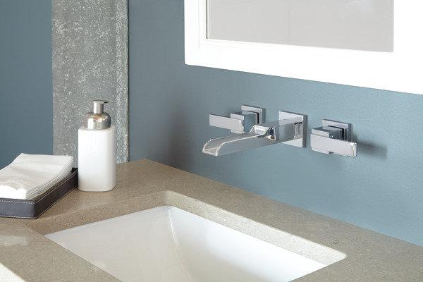 ARA Two Handle Wall Mount Channel Bathroom Faucet Trim